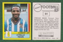 Coventry City Cyrille Regis England 84